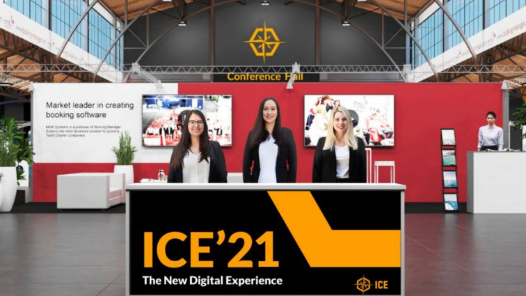ICE 2021 welcome desk graphics