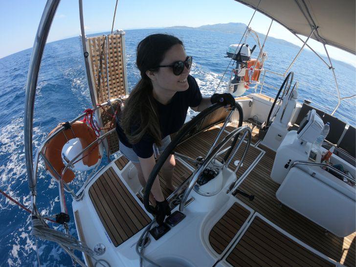 skiathos sailing trip - me as a captain