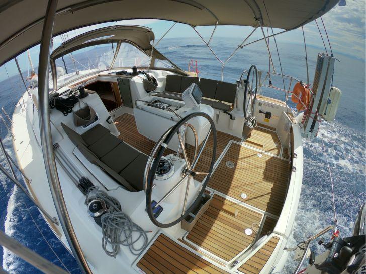 skiathos sailing trip - our yacht