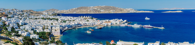 Sailing in Cyclades, Greece